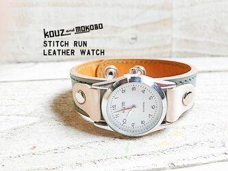【送料無料】毎日つけていたくなる時計「ステッチラン 腕時計」受注生産(SRW-HCW-GS)の画像
