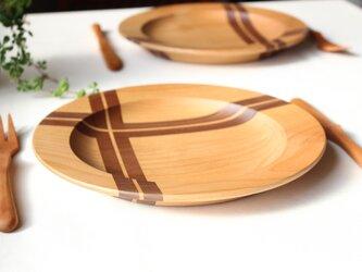 寄木のリム皿の画像