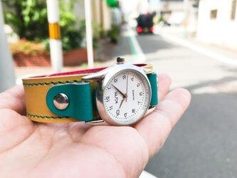 【送料無料】毎日つけていたくなる時計「ステッチラン 腕時計」受注生産(SRW-YRT-TS)Ⅱの画像