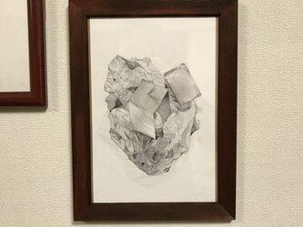 黄鉄鉱(鉛筆画)の画像