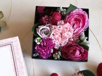 Box Flower 大人ピンクの画像