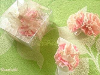 手漉き和紙 HANAコサージュ 桜色 二輪タイプの画像