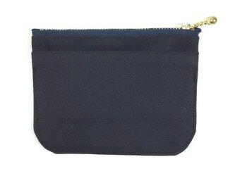 身軽になれる!倉敷帆布のミニ財布【ブラック】の画像