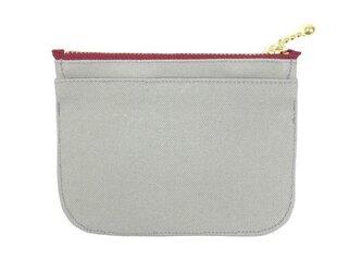 身軽になれる!倉敷帆布のミニ財布【グレー】の画像