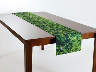 テーブルランナー 北欧柄 グリーングラス 天然リネン 183×30cm jubileetabletr029の画像