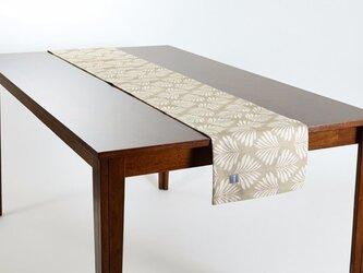 テーブルランナー 北欧柄 リーフナチュラル 天然リネン 183×30cm jubileetabletr021の画像