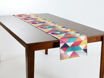 テーブルランナー 北欧柄 カラフルジオ 天然リネン 183×30cm jubileetabletr014の画像