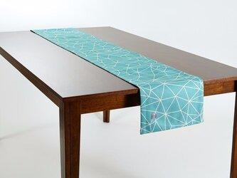 テーブルランナー 北欧柄 ミントビーム 天然リネン 183×30cm jubileetabletr008の画像