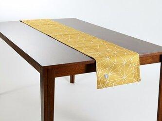 テーブルランナー 北欧柄 イエロービーム 天然リネン 183×30cm jubileetabletr006の画像