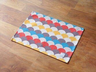 テーブルクロス 北欧柄 ホワイト ブラウン ウェーブ 2枚組 45×32cm jubileeteatoweltt151の画像