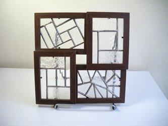 ステンドグラスのパネルセット(クリア)の画像