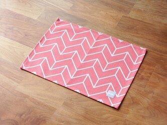 テーブルクロス 北欧柄 ピンク ホワイトラインディレクション 2枚組 天然リネン jubileeteatoweltt129の画像