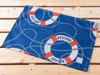 ランチョンマット 北欧柄 ウェルカムフロート 2枚組 天然リネン 45×32cm jubileeteatoweltt111の画像