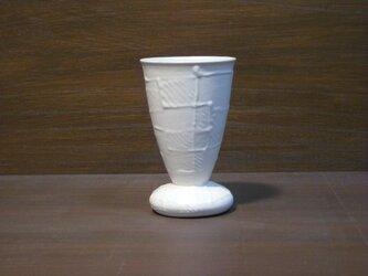 白釉線描ゴブレット(小)の画像