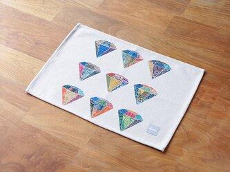 ランチョンマット 北欧柄 ダイヤモンドドット 2枚組 天然リネン 45×32cm jubileeteatoweltt103の画像