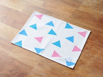 ランチョンマット 北欧デザイン ピンク ミントコンフェッティ 2枚組 天然リネン jubileeteatoweltt091の画像