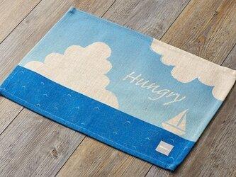 ランチョンマット 北欧柄 サニーオーシャン 2枚組 天然リネン 45×32cm jubileeteatoweltt065ymの画像