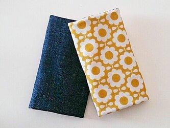 抱っこ紐よだれカバー yellow daisy × denimの画像