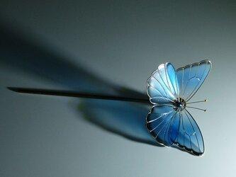 蝶の簪 一本ざしの画像
