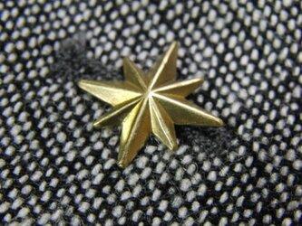 真鍮ブラス製 ミニスパークスター型ピンズブローチ ジャケットやハットの飾りとしての画像
