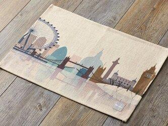 ランチョンマット 北欧デザイン ロンドンスケープ 2枚組 天然リネン 45×32cm jubileeteatoweltt040の画像