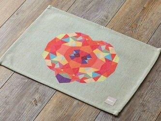 ランチョンマット 北欧柄 ハートブロック 2枚組 LAMOPPEデザイン jubileeteatoweltt033の画像