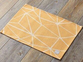 ランチョンマット 北欧デザイン イエロービーム 2枚組 天然リネン 45×32cm jubileeteatoweltt017の画像