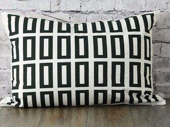 枕カバー 寝具 63×43cm ブラックスルー スクエアチェック 北欧デザイン jubileemkr041ymの画像