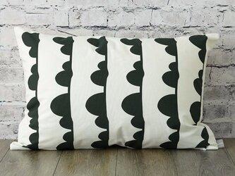 枕カバー 寝具 63×43cm ブラッククラウドライン 北欧デザイン jubileemkr037ymの画像