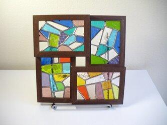 ステンドグラスのパネルセット(モザイク)の画像