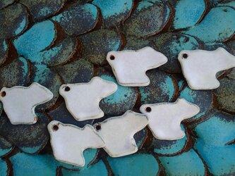 シロクマの香立て箸置きの画像