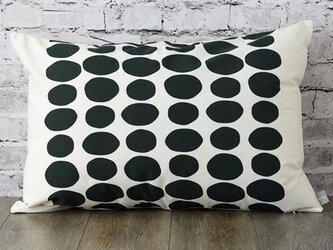 枕カバー 寝具 63×43cm ブラックストーンドット 北欧デザイン jubileemkr036ymの画像