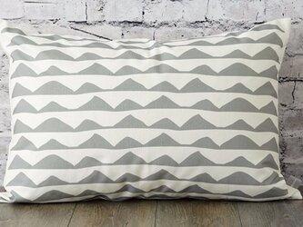 枕カバー 寝具 63×43cm グレー リップル 北欧デザイン jubileemkr108ymの画像