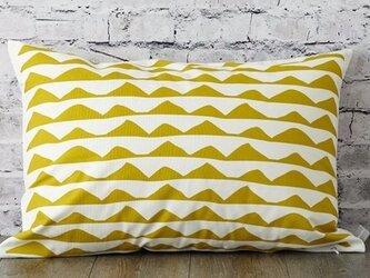 枕カバー 寝具 63×43cm マスタードリップル 北欧デザイン jubileemkr106ymの画像