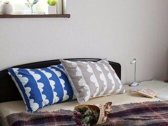 枕カバー 寝具 63×43cm ブルー クラウドライン 北欧デザイン jubileemkr098ymの画像