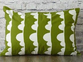 枕カバー 寝具 63×43cm オリーブ クラウドライン 北欧デザイン jubileemkr097ymの画像