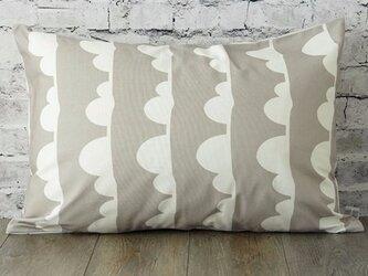 枕カバー 寝具 63×43cm グレー クラウドライン 北欧デザイン jubileemkr096ymの画像