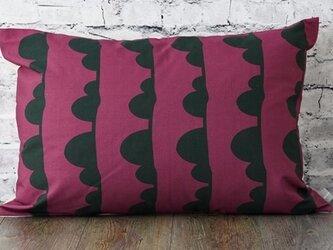 枕カバー 寝具 63×43cm ワイン クラウドライン 北欧デザイン jubileemkr095ymの画像