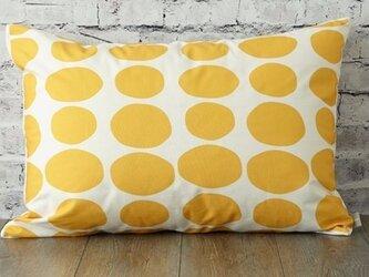 枕カバー 寝具 63×43cm イエロー ストーンドット 北欧デザイン jubileemkr089ymの画像