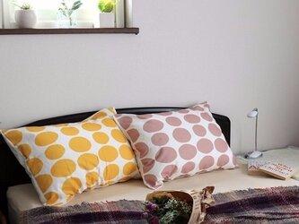 枕カバー 寝具 63×43cm ピンク ストーンドット 北欧デザイン jubileemkr088ymの画像