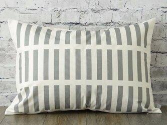 枕カバー 寝具 63×43cm グレー スクエアチェック 北欧デザイン jubileemkr080ymの画像