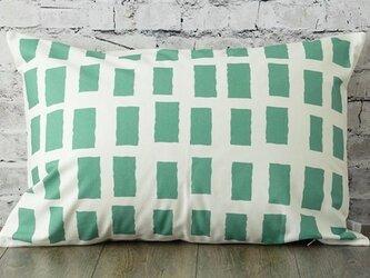 枕カバー 寝具 63×43cm ドロウン ミント スクエアチェック 北欧デザイン jubileemkr070ymの画像