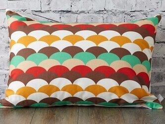 枕カバー 寝具 63×43cm ブラウンウロコ 北欧デザイン jubileemkr031の画像