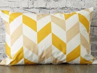 枕カバー 寝具 63×43cm イエローアロー 北欧デザイン jubileemkr027の画像