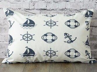枕カバー 寝具 63×43cm ネイビーマリン 北欧デザイン jubileemkr014の画像