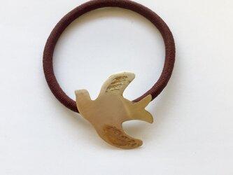 真鍮birdヘアゴムの画像