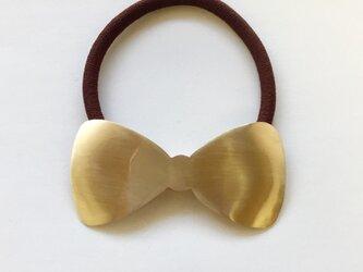 真鍮リボンヘアゴムの画像