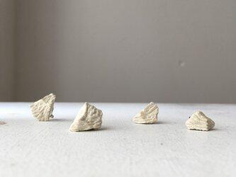 土の装身具 樹皮a ピアスの画像