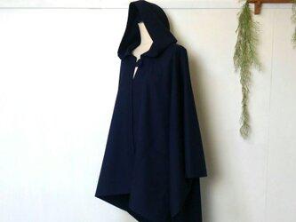 ネイビー の ポンチョ 再販9 ~ 良質生地 コート ジャケット アウターの画像