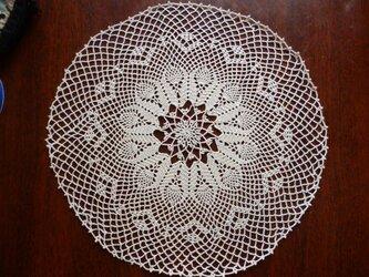 手編みレースドイリー33cmの画像